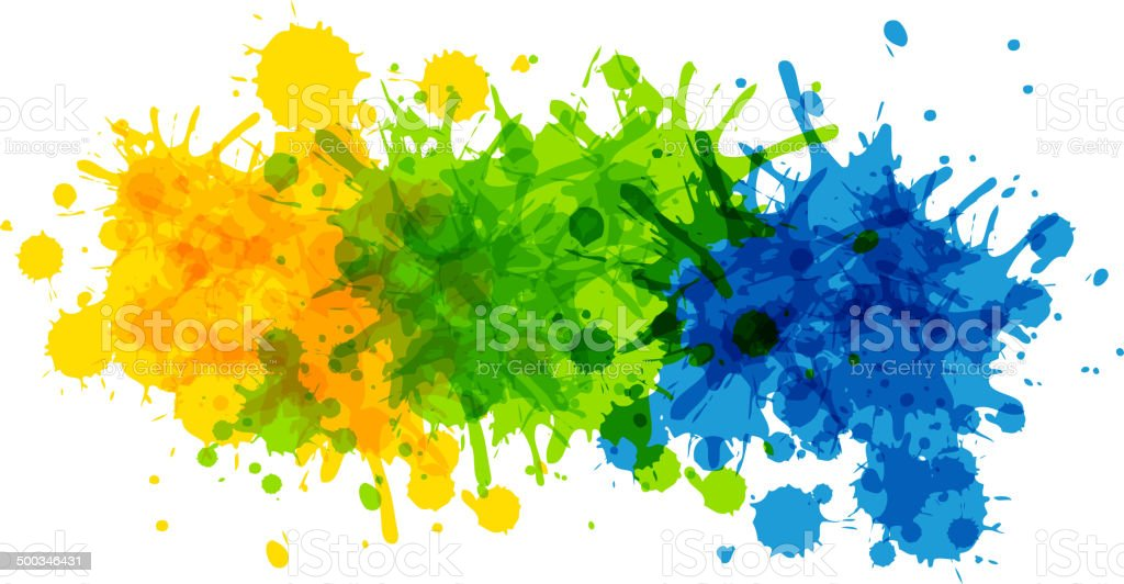 Background with Brazilian flag colors vector art illustration