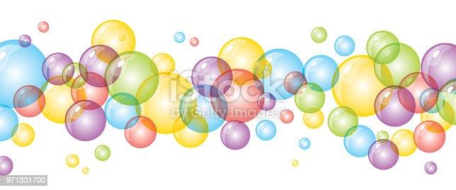 Ilustración De Fondo Con Burbujas De Colores Brillantes Y