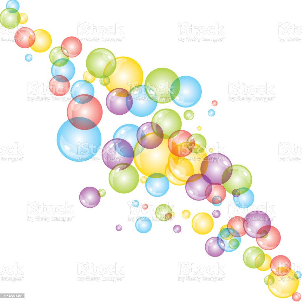 background with bright colored bubbles stock vector art more