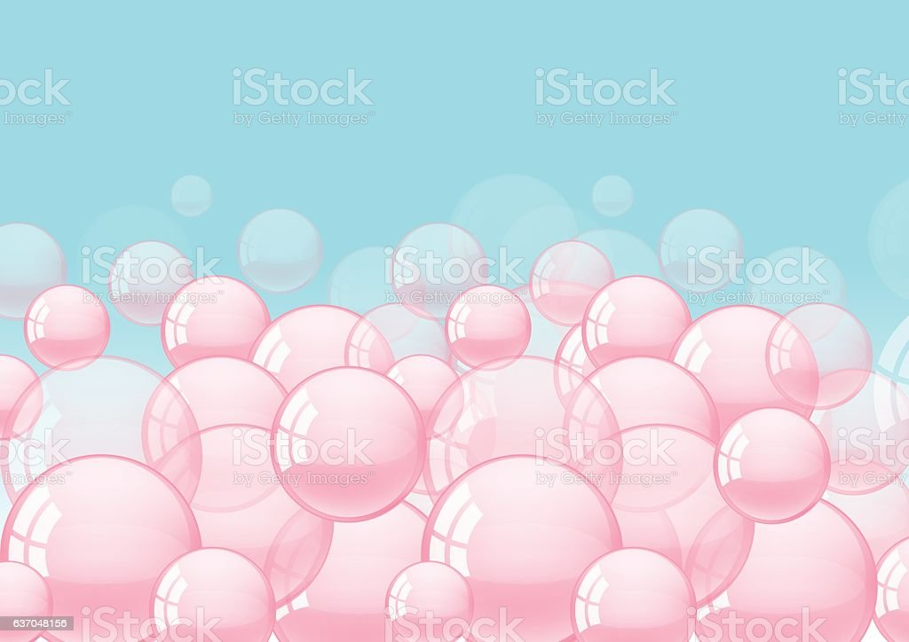background with bubble gum vector art illustration