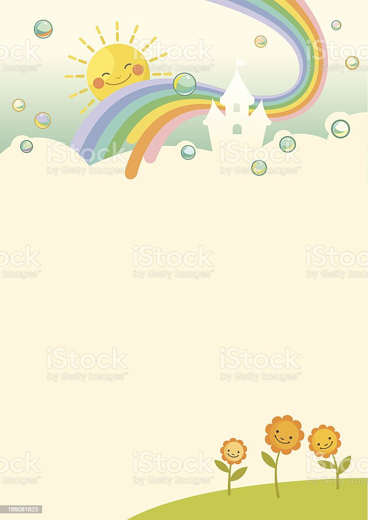 Background with bubbles royalty-free stock vector art