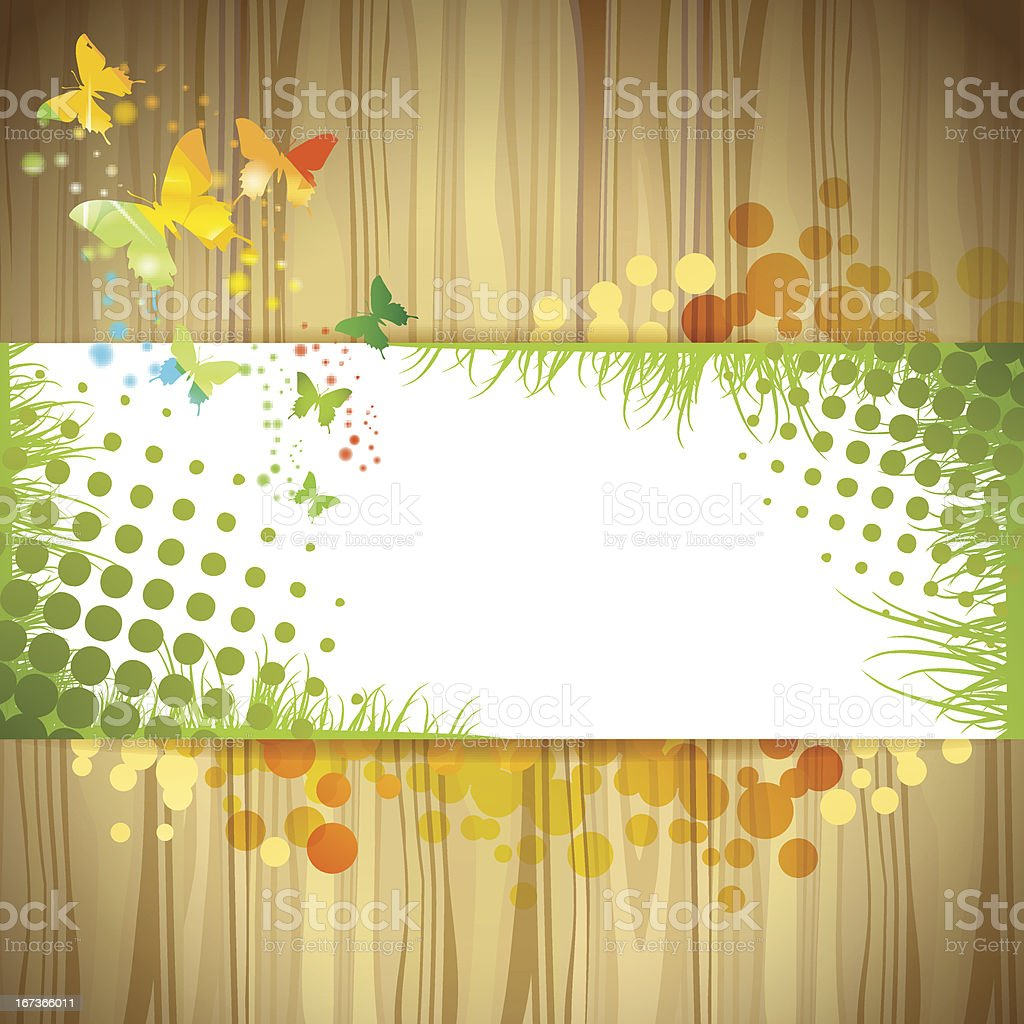 Background with butterfly royalty-free stock vector art