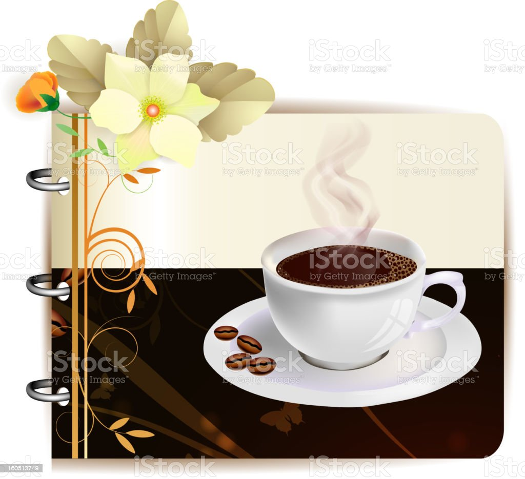 Background with cap of coffee royalty-free stock vector art