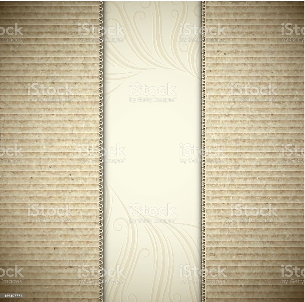 Background with cardboard royalty-free stock vector art