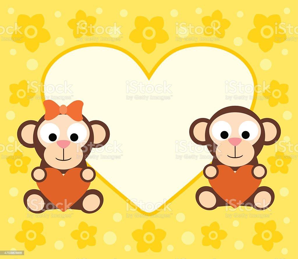 Открытки обезьянки любовь, открытку