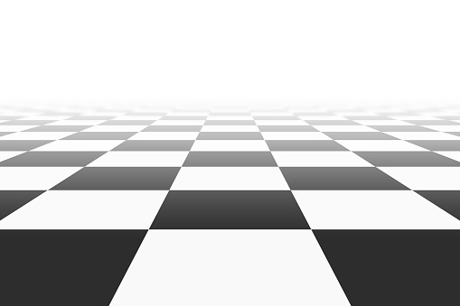 background with checkered surface in perspective view