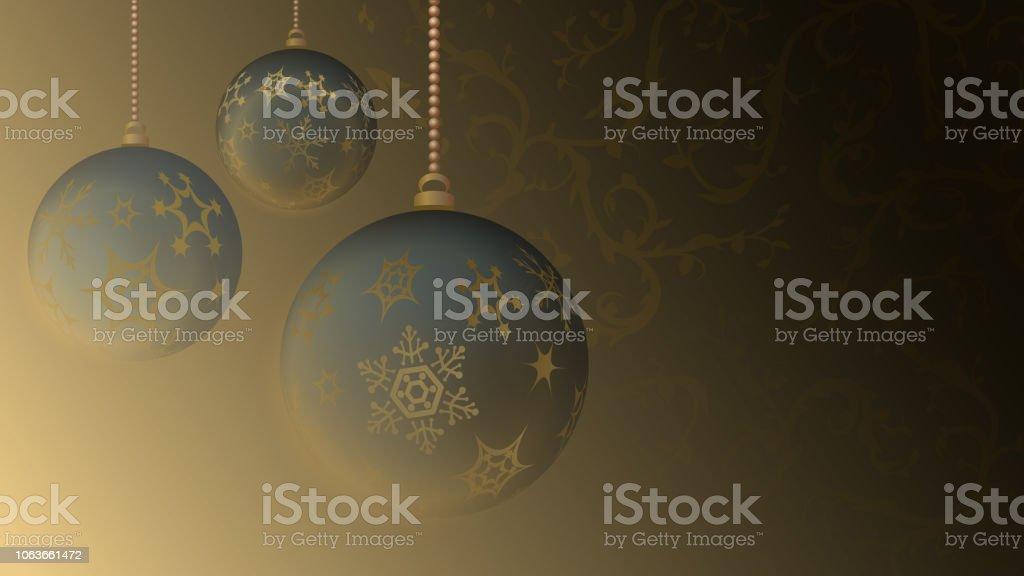 Christbaumkugeln Polen.Hintergrund Mit Christbaumkugeln Und Platz Für Text Stock Vektor Art
