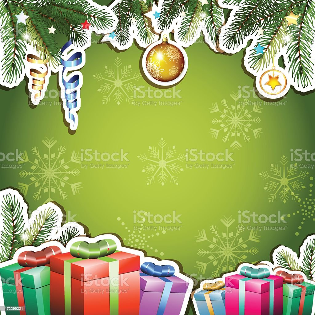 Background with Christmas gifts royalty-free stock vector art