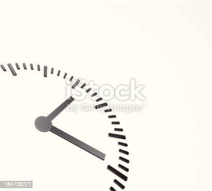 abstract background with clock 3d