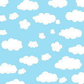 istock Background with clouds in the sky. 1069818318