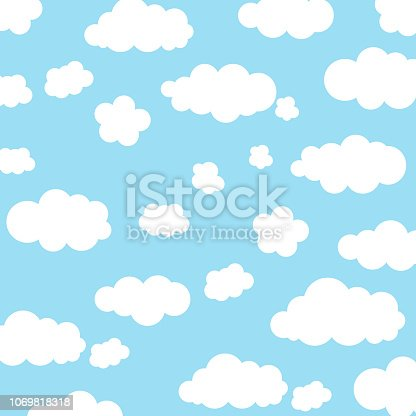 Background with clouds in the sky.Vector.Eps 10.