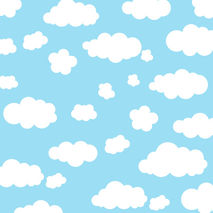 Background with clouds in the sky.