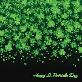 Background with clover on the black backdrop