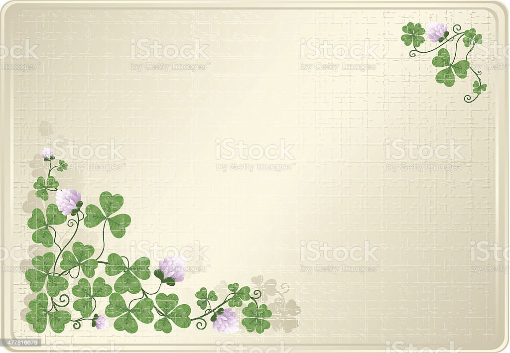Background with clover royalty-free stock vector art