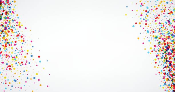 ilustraciones, imágenes clip art, dibujos animados e iconos de stock de fondo con color gotas. - celebration background