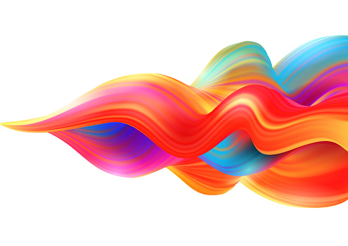 Background with colored wave