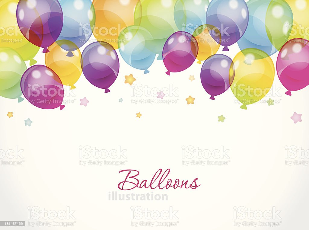Background with colorful balloons royalty-free stock vector art