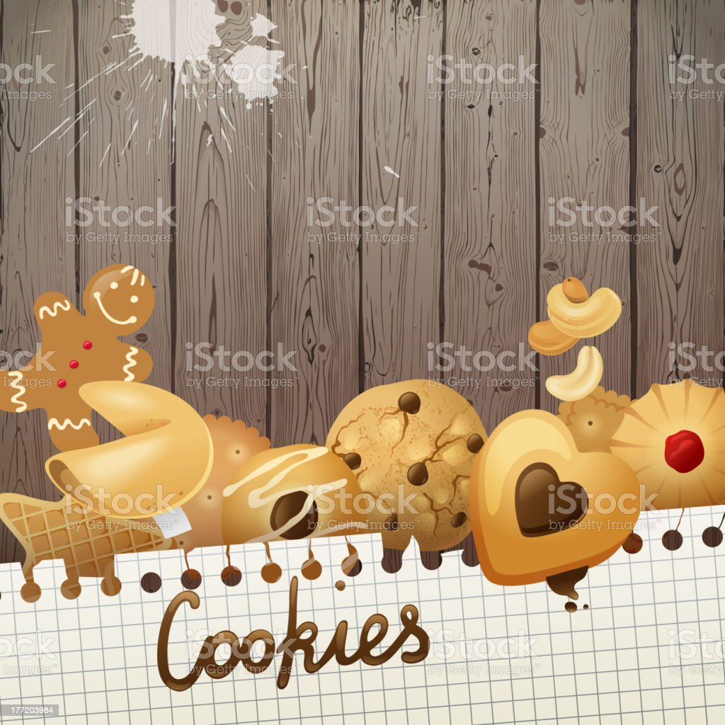 Background with cookies royalty-free background with cookies stock vector art & more images of adult