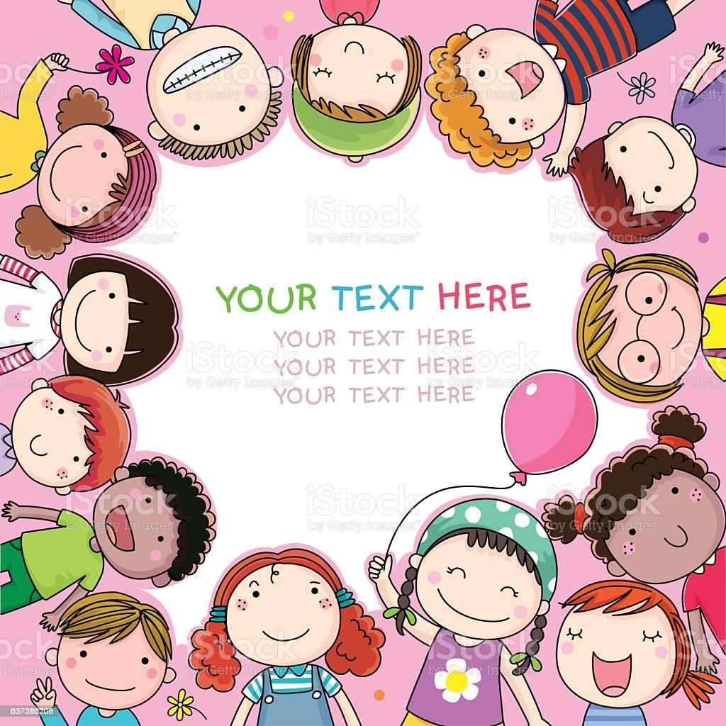 Background with cute cartoon kids background with cute cartoon kids background with cute cartoon kids voltagebd Gallery
