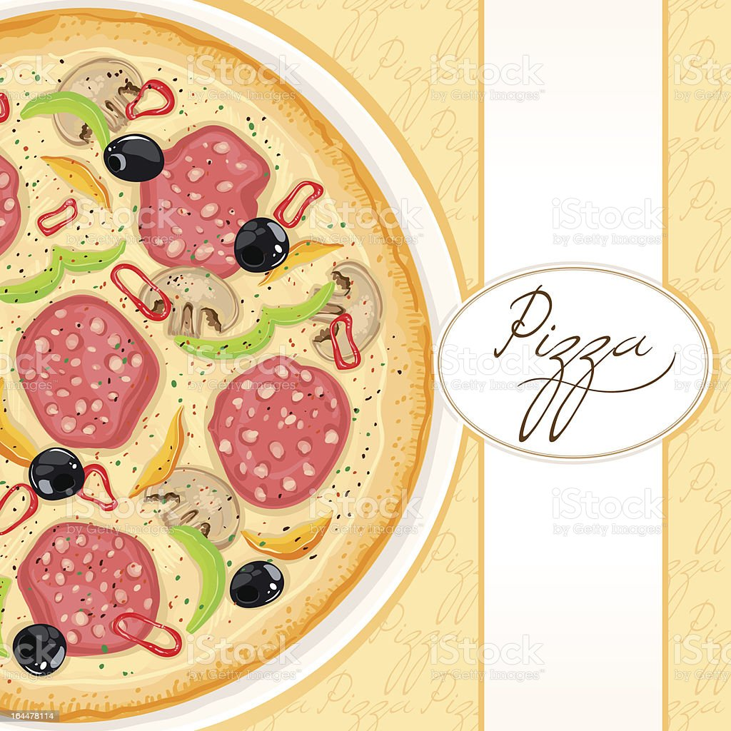 background with delicious pizza royalty-free stock vector art