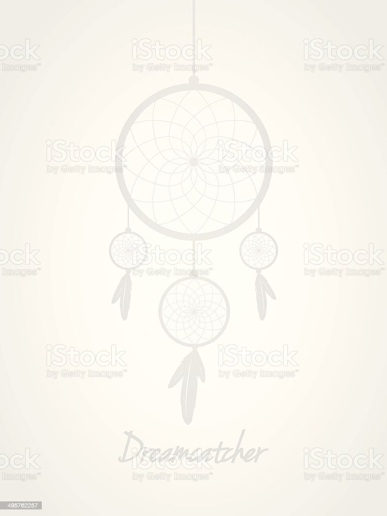 Background with dreamcatcher royalty-free stock vector art
