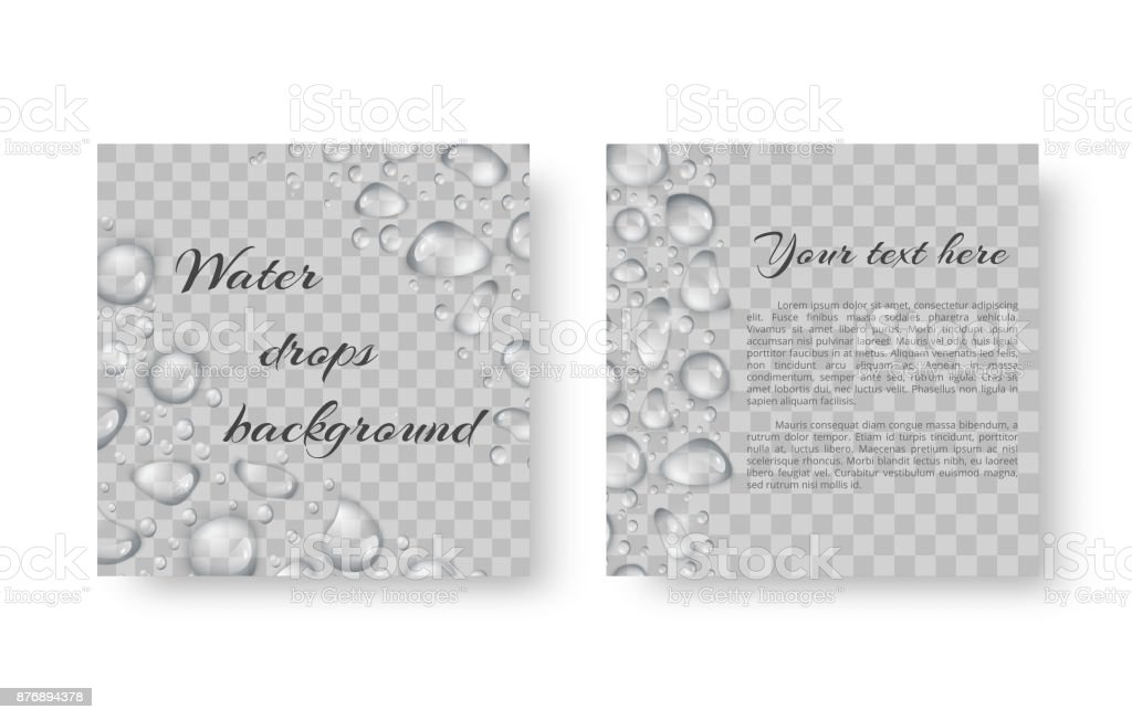 Background with drops of dew vector art illustration