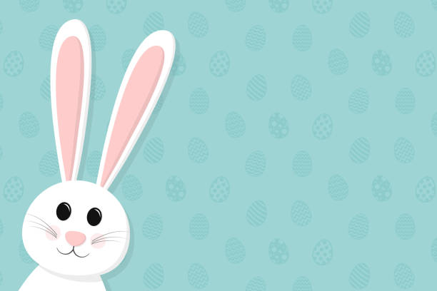 Background with Easter bunny and copyspace. Vector. vector art illustration