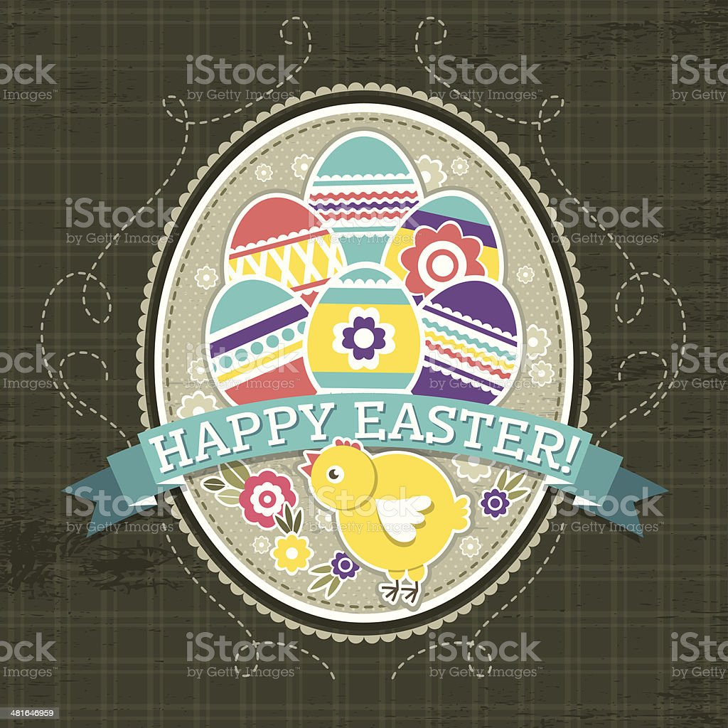 background with easter eggs and one chick royalty-free background with easter eggs and one chick stock vector art & more images of abstract