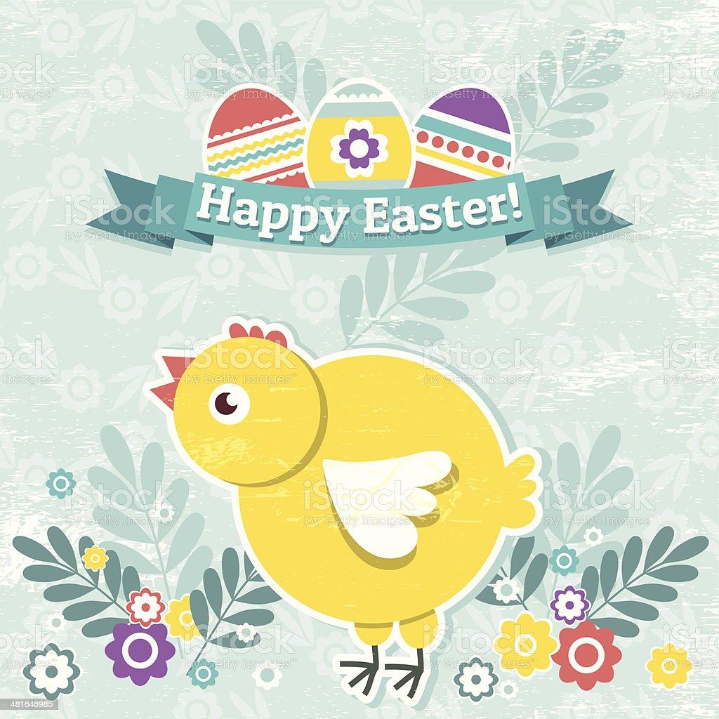 背景イースター卵と 1 つの女の子 のイラスト素材 481646985 | istock