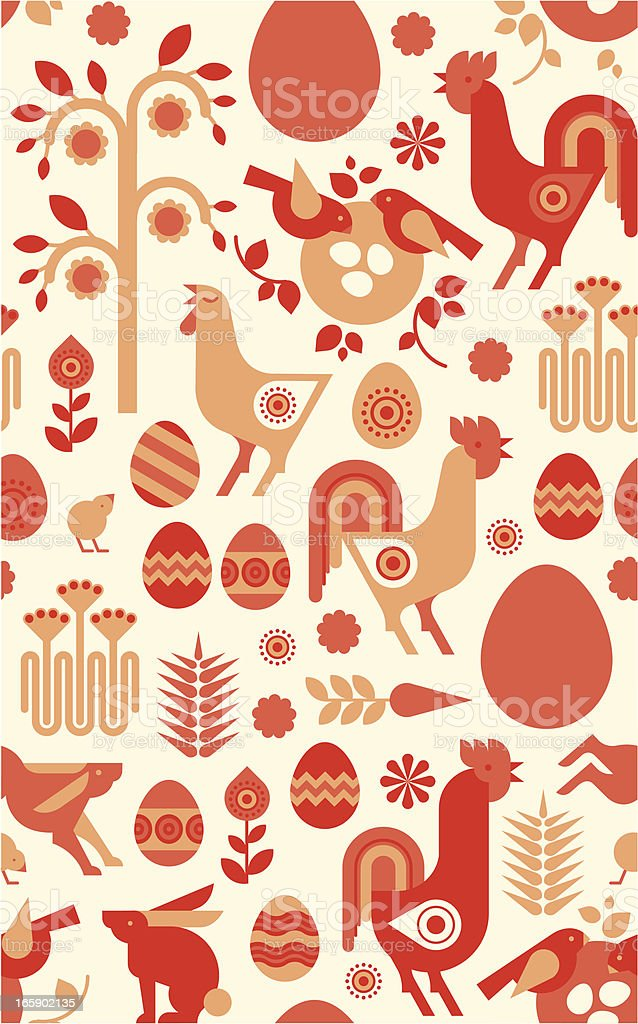 Background with Easter silhouettes royalty-free stock vector art