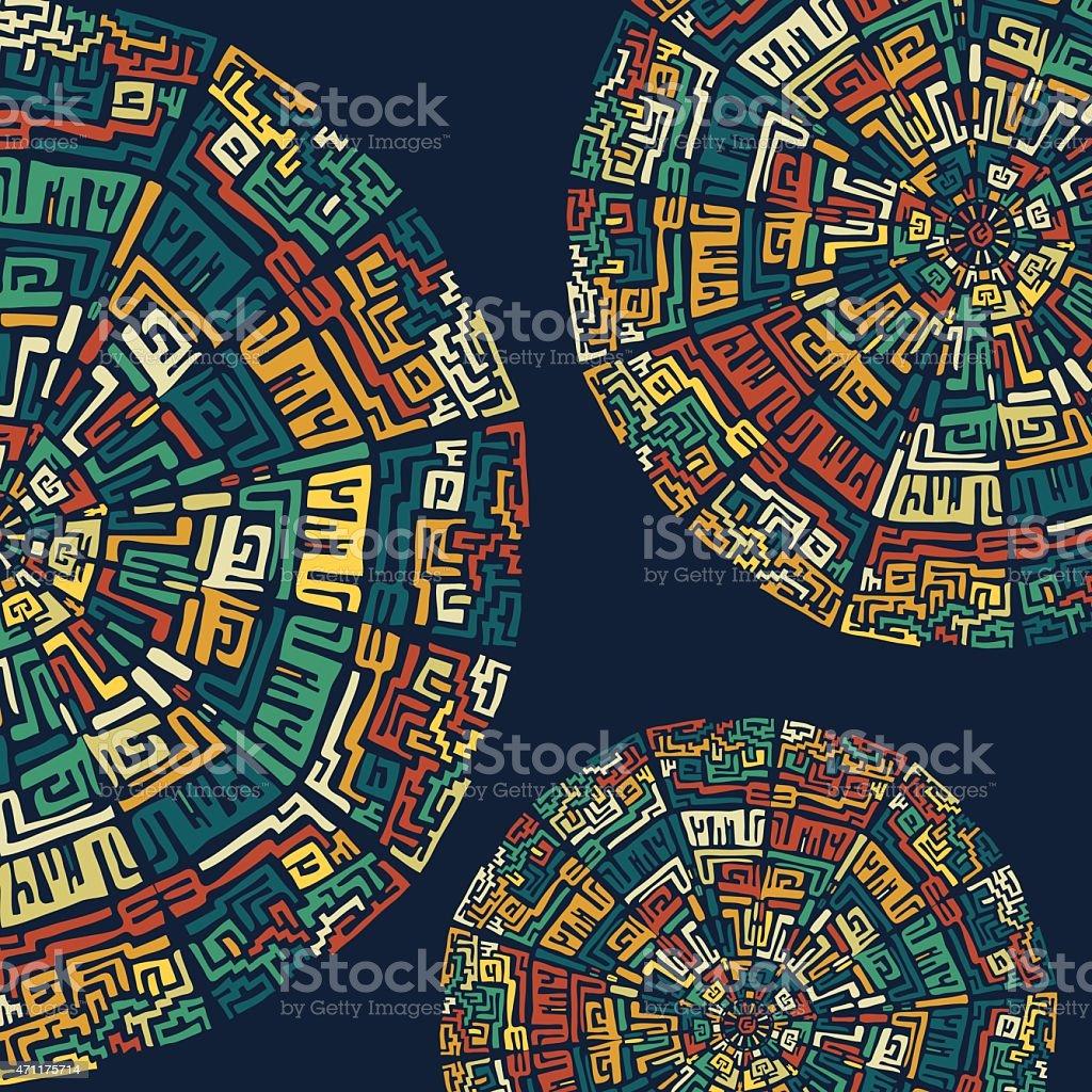 Fondo con los elementos étnica - ilustración de arte vectorial