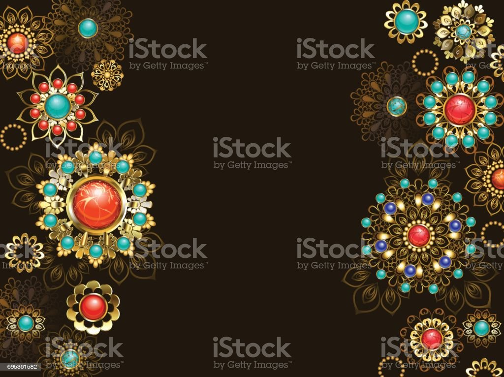 Background with ethnic ornaments vector art illustration