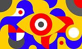 istock Background with eye 1218724550