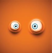 Background with cartoon eyes. Illustration contains transparency and blending effects, eps 10