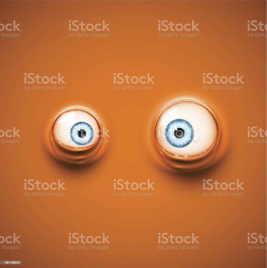Background with eyes vector art illustration