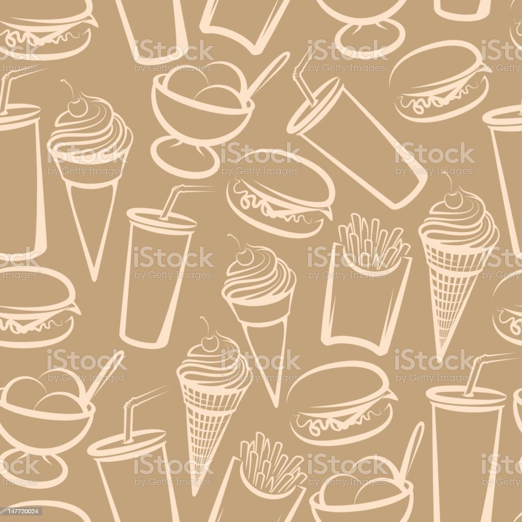 background with fast food royalty-free background with fast food stock vector art & more images of american culture