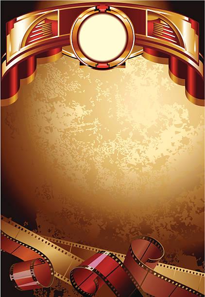 stockillustraties, clipart, cartoons en iconen met background with films - photography curtains