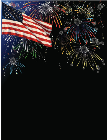 Background With Fireworks Stock Illustration - Download Image Now