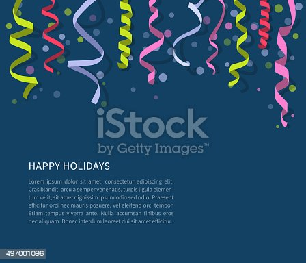 istock Background with flat streamers 497001096