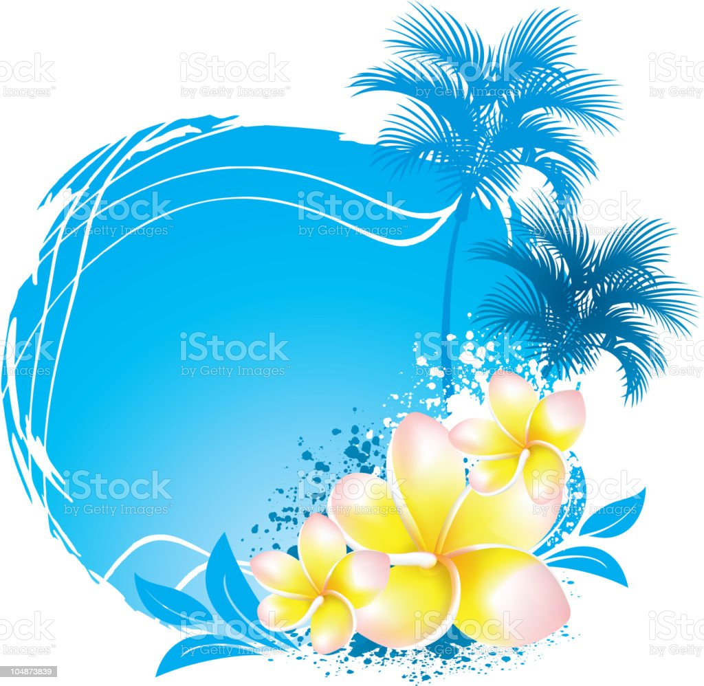background with flower plumeria royalty-free background with flower plumeria stock vector art & more images of abstract