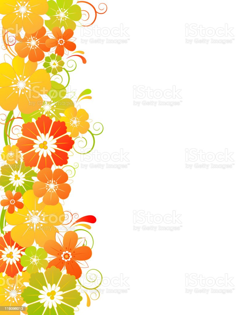 background with flowers vector art illustration