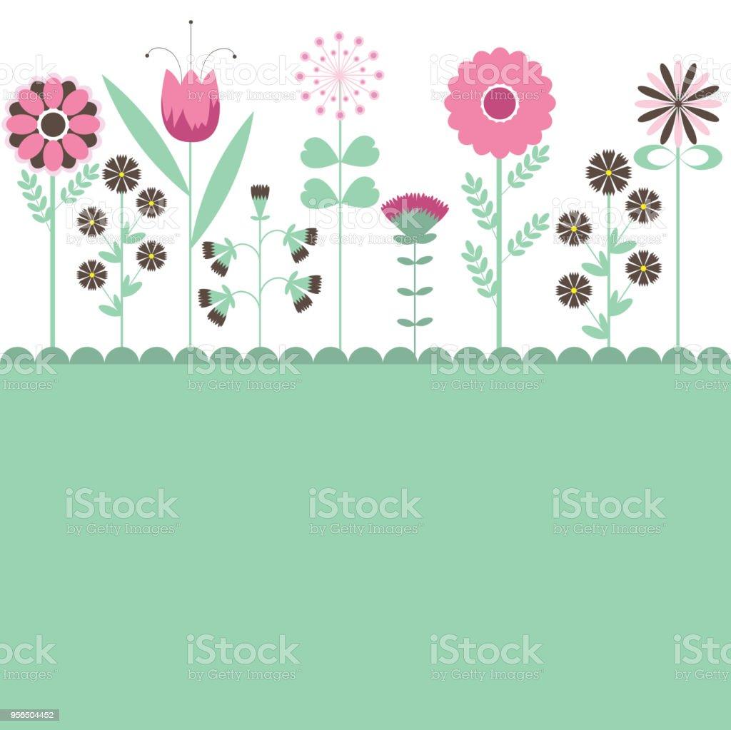 Hintergrund mit Blumen. Vektor-illustration - Lizenzfrei Abstrakt Vektorgrafik