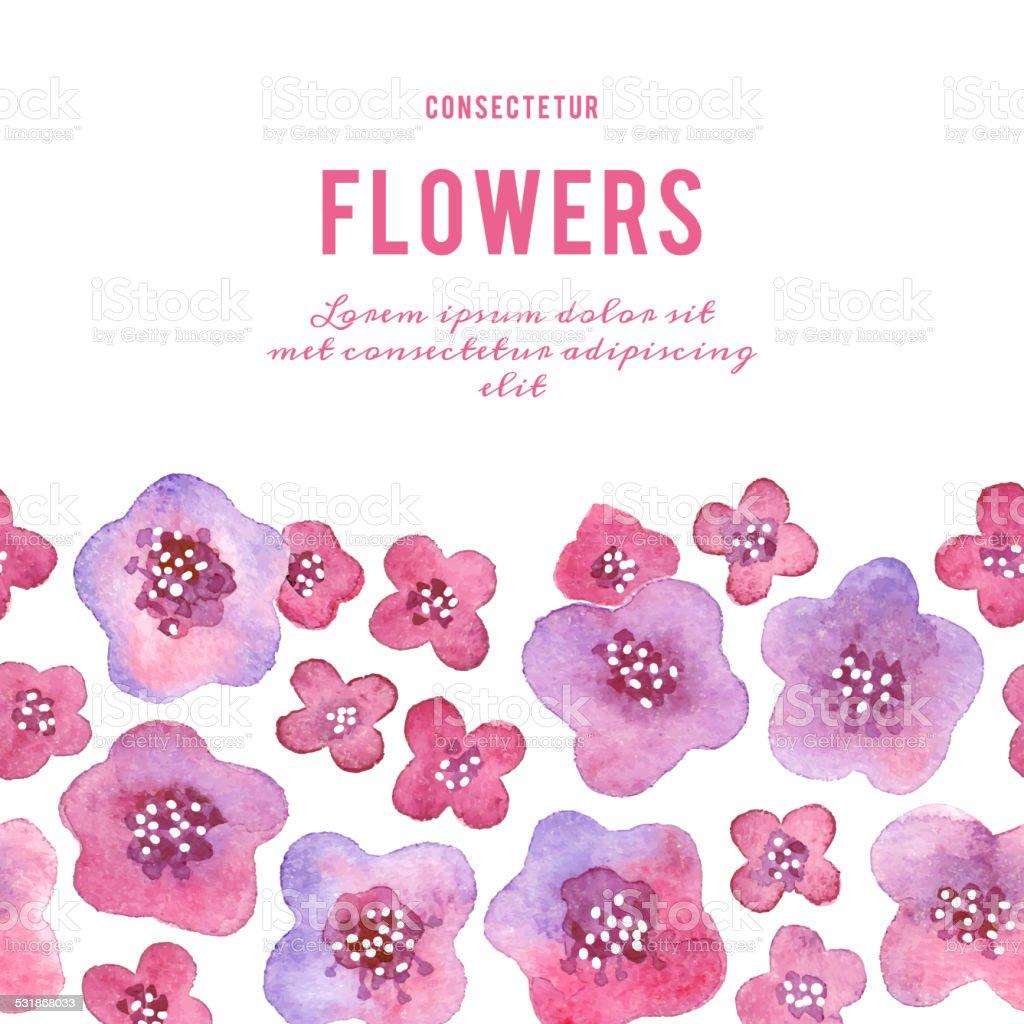 花の背景にしています。水彩バイオレットます。 ベクターアートイラスト