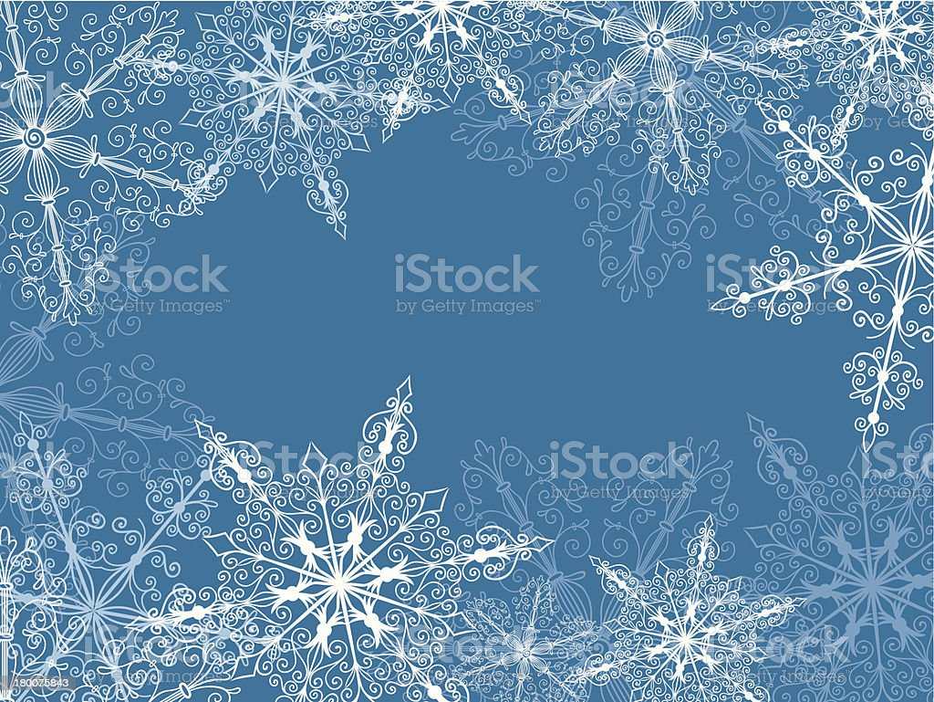 Background With Fragile Snowflakes royalty-free background with fragile snowflakes stock vector art & more images of backgrounds