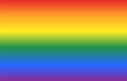 Background with gay flag colors pattern in horizontal view. Abstract vector or illustration with rainbow colors.