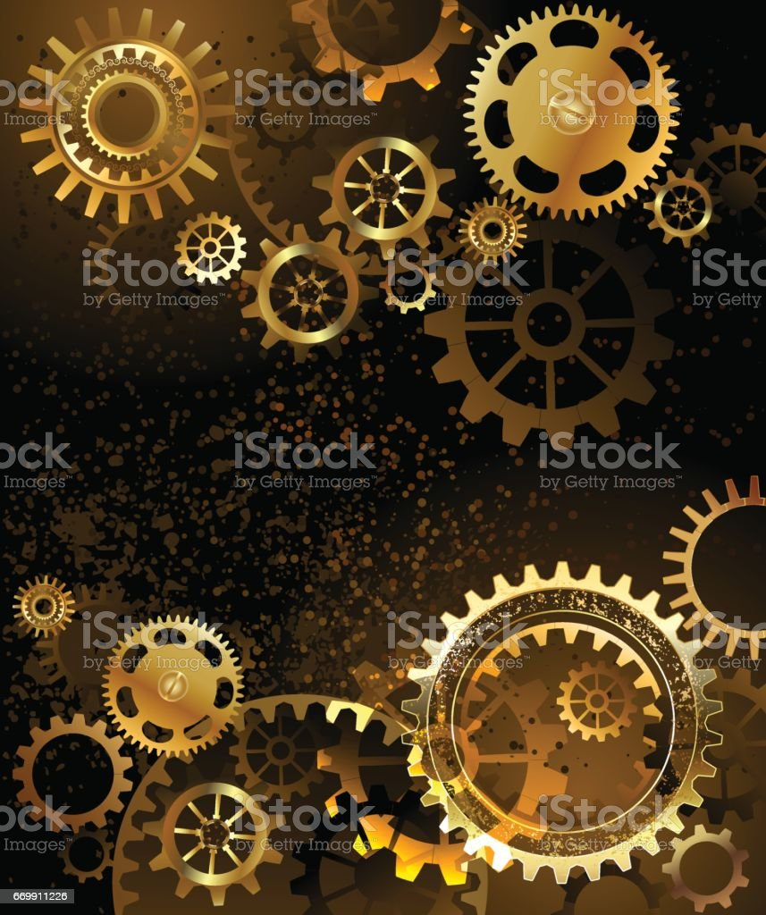 background with gear vector art illustration