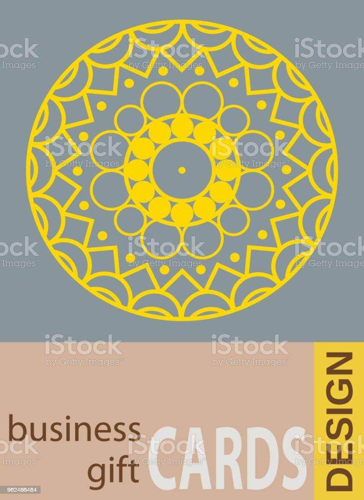 Hintergrund Mit Geometrischen Blumen Visitenkarten Flyer