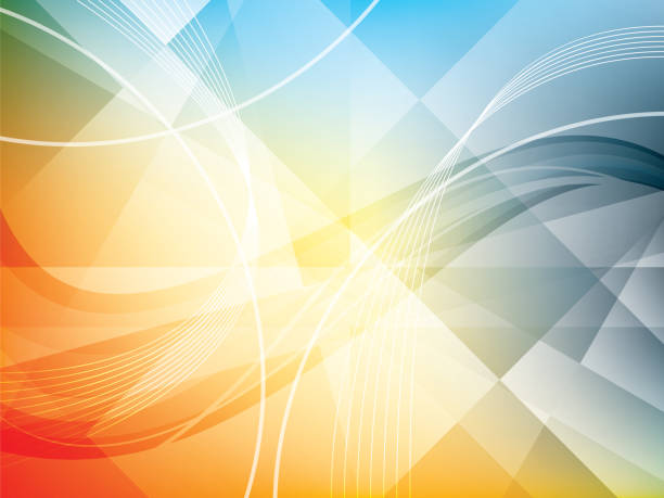 background with geometrical shapes in vector. - abstract background stock illustrations