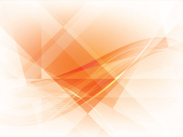 bildbanksillustrationer, clip art samt tecknat material och ikoner med bakgrund med geometriska former i vector. - orange bakgrund