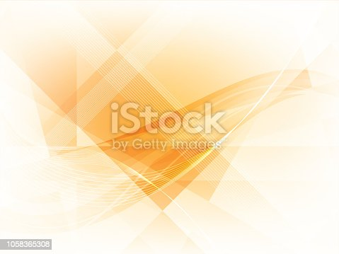 Orange background with rectangles, squares, triangles and lines vector illustration.